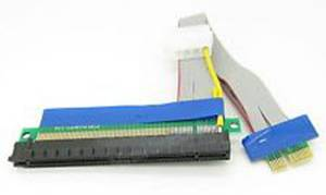 PCI-E 1x To 16x RISER CARD W/POWER