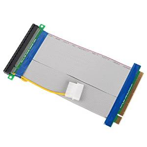 Powered Riser Cable 16X PCI-E PCI-Express Ribbon Flexible Extender Ada