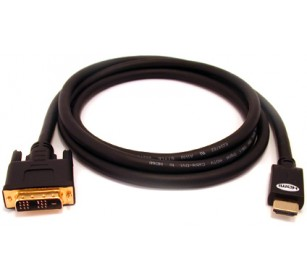50'DVI(18+1) TO HDMI W/FERRITE CORECABLE