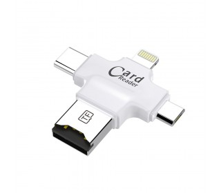 Micro SD Card Reader, USB Adapter 3in1