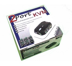 KVM SWITCH 2 PORT W/CABLE